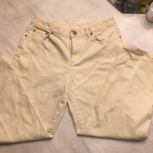 Talbots yellow jeans. Stretch size 12.